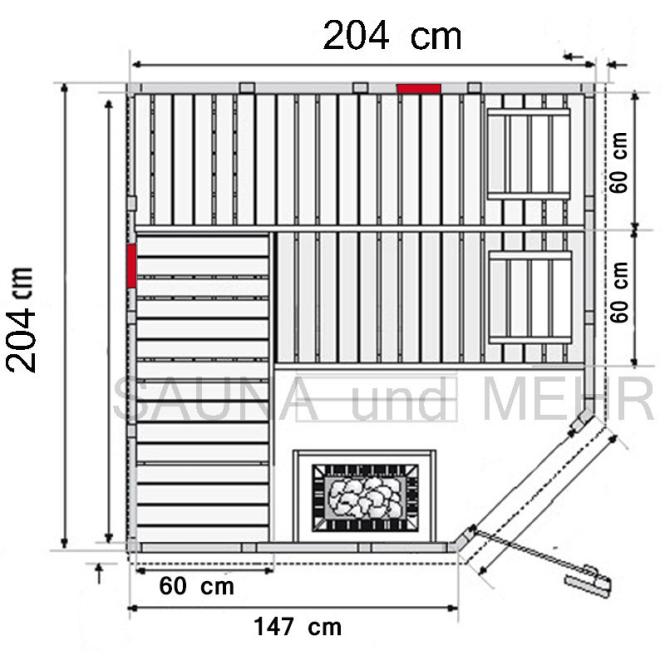 wood line infra massivholz sauna eck m infrarot vollspecktrumstrahler harvia ebay. Black Bedroom Furniture Sets. Home Design Ideas